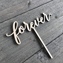 "Load image into Gallery viewer, Forever Cake Topper, 6""W"