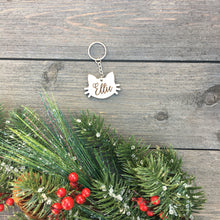 Load image into Gallery viewer, Personalized Cat Keychain