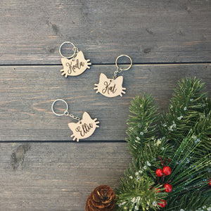 Personalized Cat Keychain