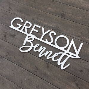 Personalized First & Middle Name Sign