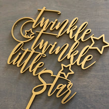 "Load image into Gallery viewer, Twinkle Twinkle Little Star Cake Topper, 6""W"