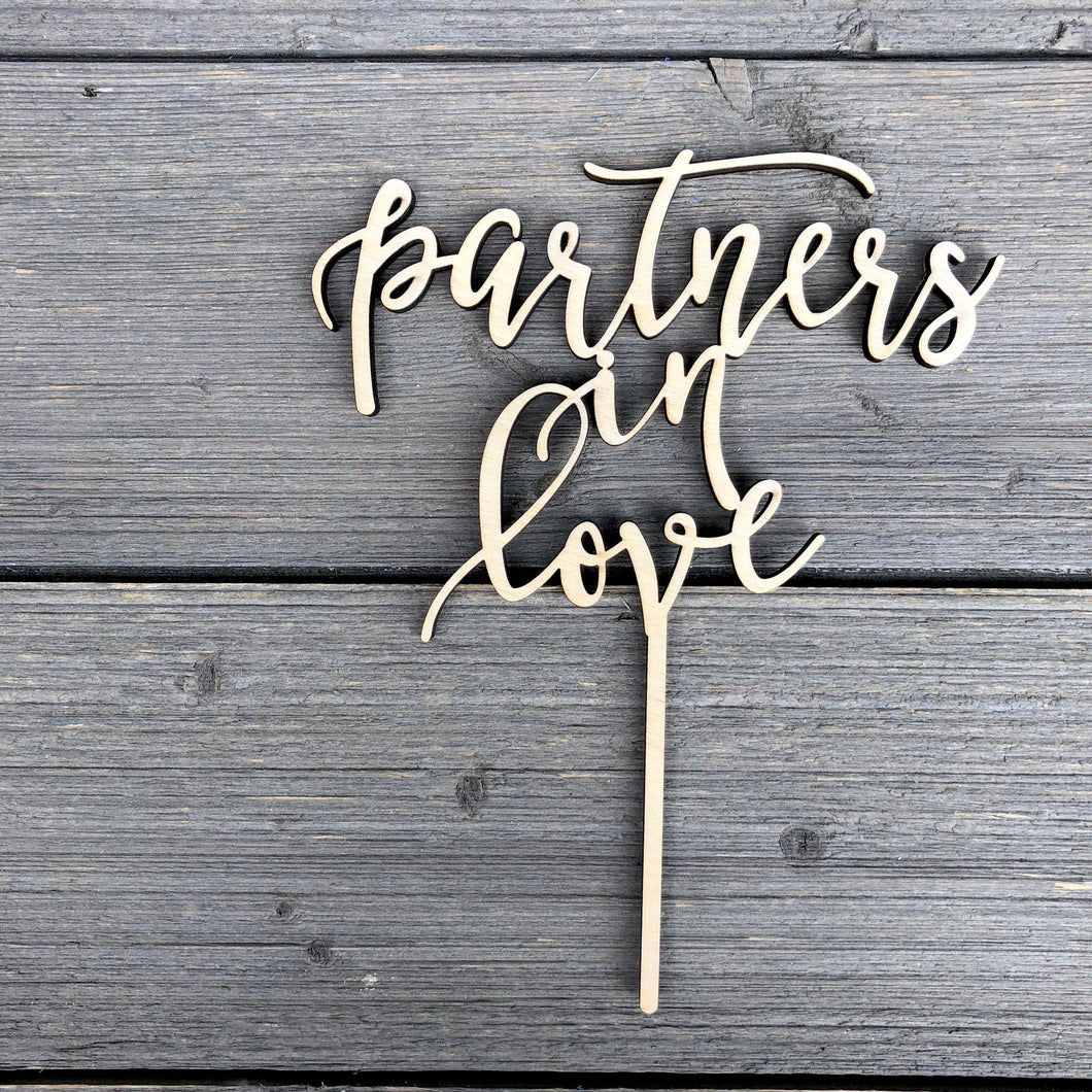 Partners in Love Cake Topper, 6