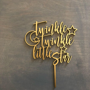 "Twinkle Twinkle Little Star Cake Topper, 6""W"