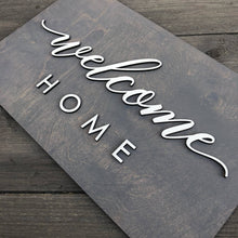 "Load image into Gallery viewer, Welcome Home Plank Sign, 15""x9"""