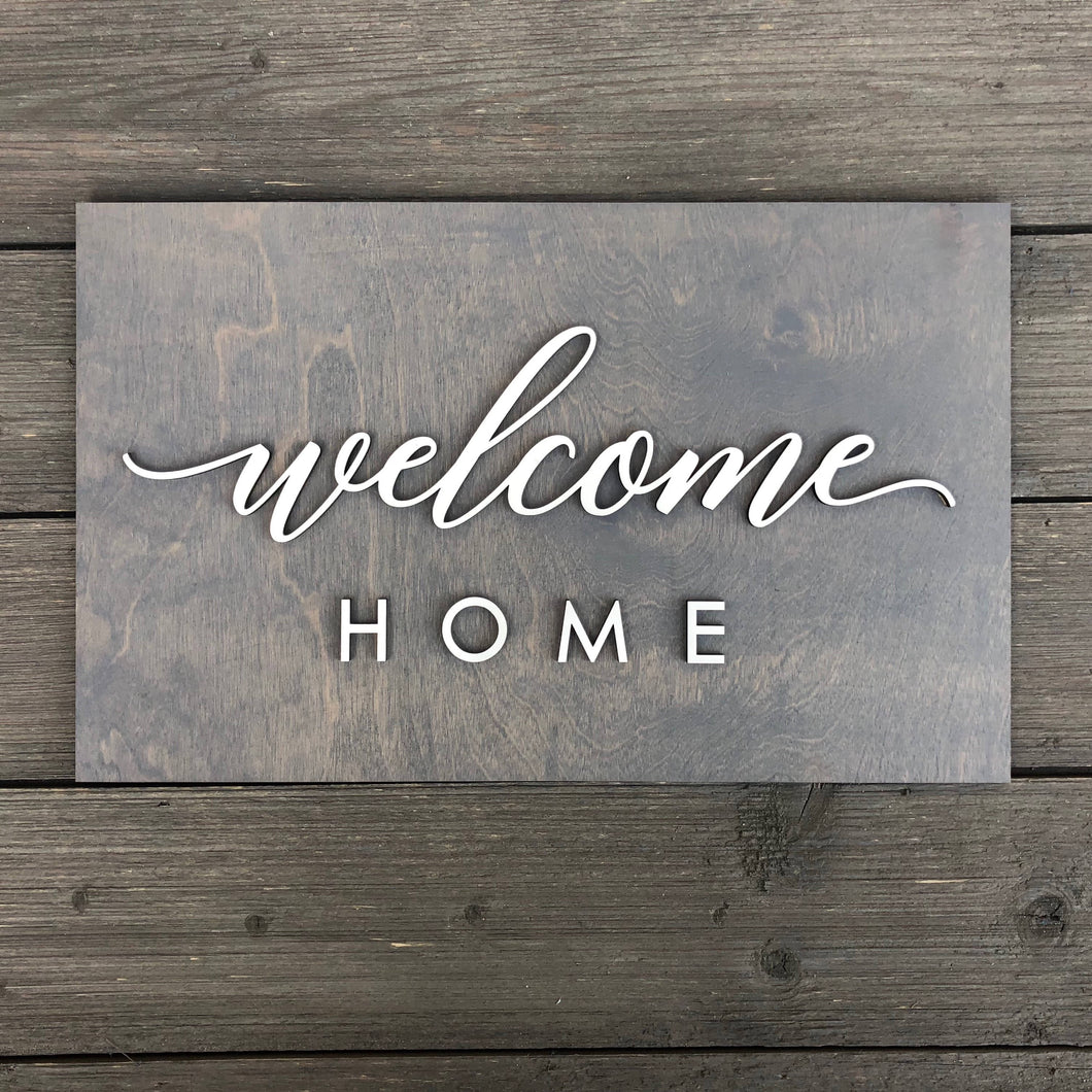 Welcome Home Plank Sign, 15