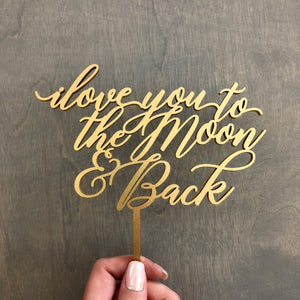 "I Love You to the Moon & Back, 6""W (Version 2)"