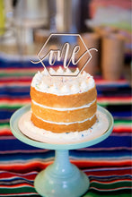 "Load image into Gallery viewer, One Hexagon Cake Topper, 5.5""W"