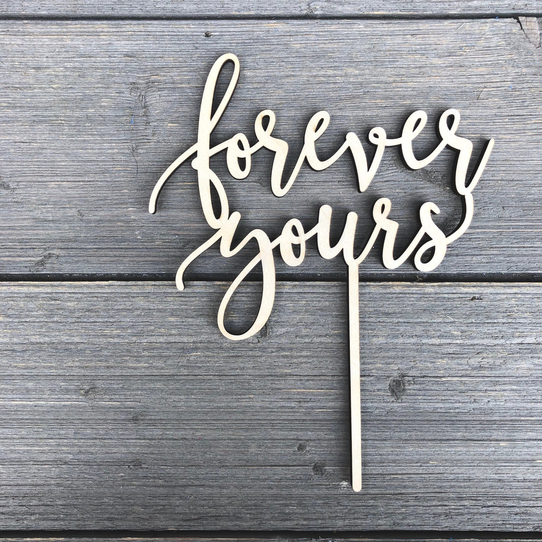 Forever Yours Cake Topper, 6