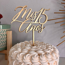 "Load image into Gallery viewer, Mis 15 Anos Cake Topper, 6""W"