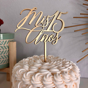 "Mis 15 Anos Cake Topper, 6""W"