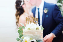 "Load image into Gallery viewer, Personalized Mr & Mrs Last Name Cake Topper, 6""W (Version 2)"