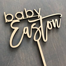 "Load image into Gallery viewer, Baby Name Cake Topper, 6""W (Version 2)"