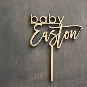 "Baby Name Cake Topper, 6""W (Version 2)"
