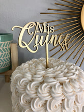 "Load image into Gallery viewer, Mis Quince XV Cake Topper, 7""W"