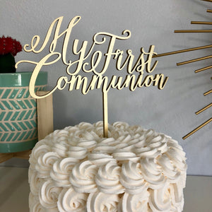 "My First Communion Cake Topper, 6""W"
