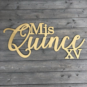 "Mis Quince XV Sign, 35""x15.5"""