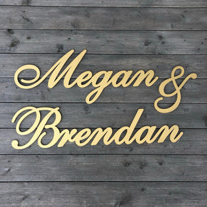 Personalized Couples Name Sign (Version 2)