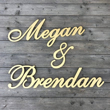 Load image into Gallery viewer, Personalized Couples Name Sign (Version 2)