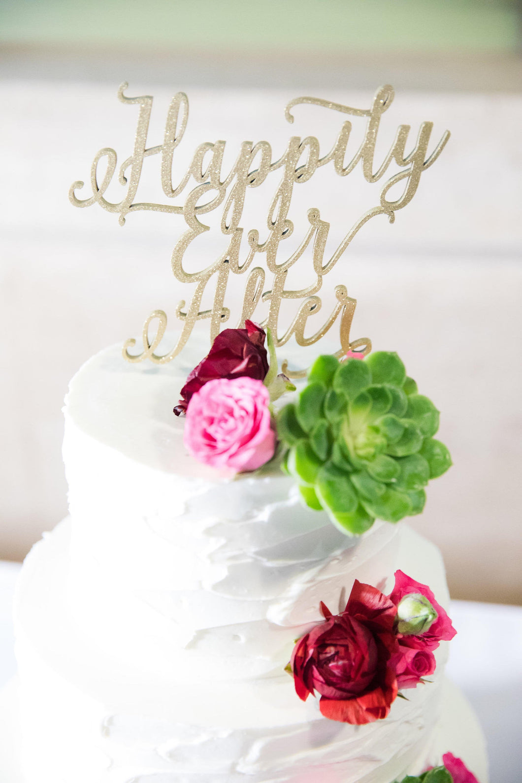 Happily Ever After Cake Topper, 6.5