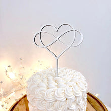 "Load image into Gallery viewer, Infinity Heart Cake Topper, 6""W"