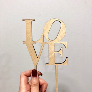 "LOVE Cake Topper, 4""W (Version 3)"