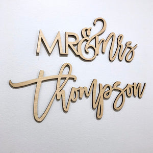 Mr & Mrs Last Name Sign