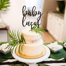 "Load image into Gallery viewer, Personalized Baby Name Cake Topper, 6""W"