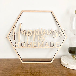 "Happiness is Homemade Sign, 13""x11"""