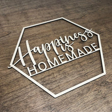 "Load image into Gallery viewer, Happiness is Homemade Sign, 13""x11"""