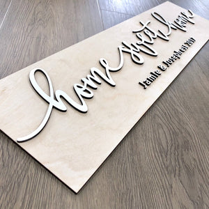 Personalized Home Sweet Home Plank Name Sign