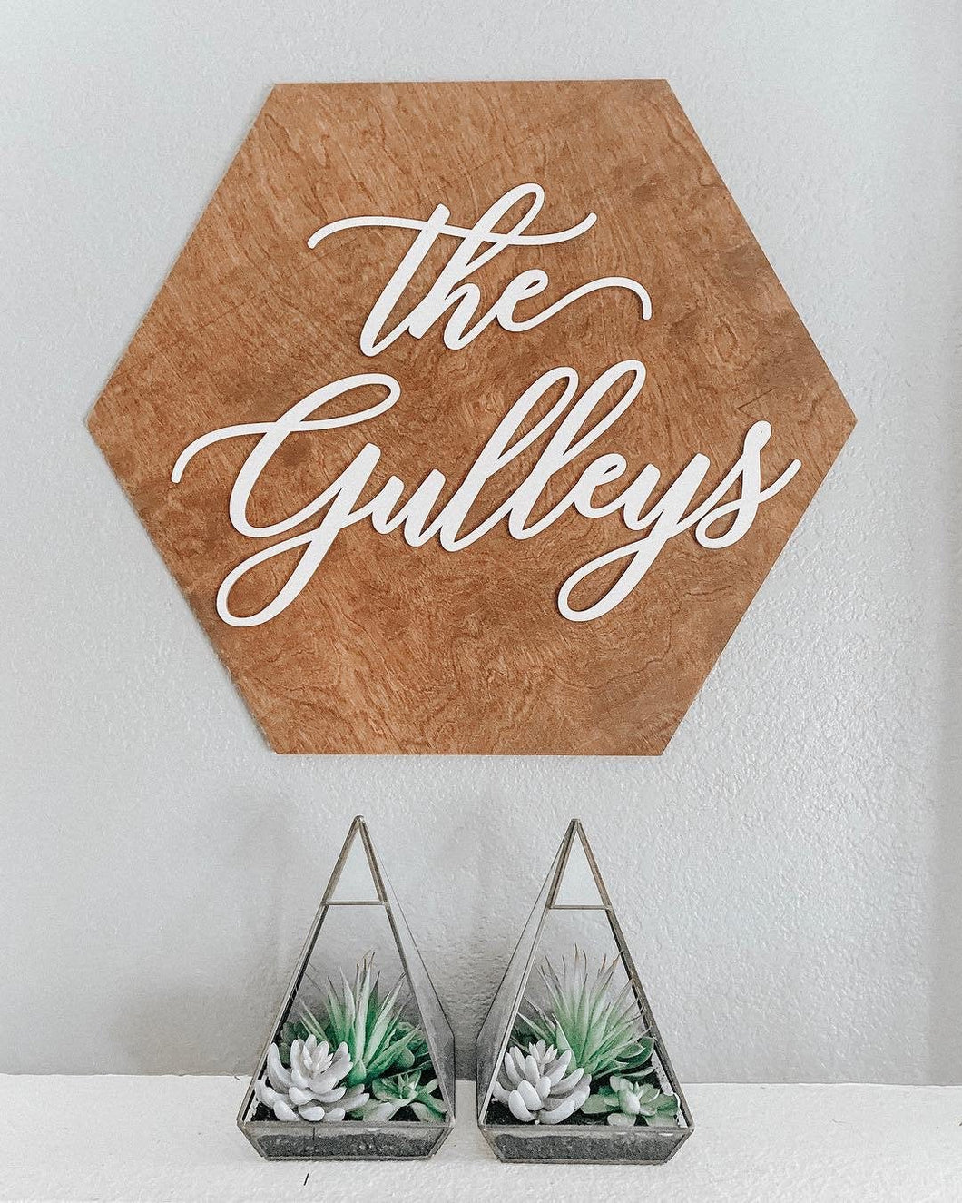 Personalized Hexagon Name Plank Sign