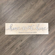 Load image into Gallery viewer, Personalized Home Sweet Home Plank Name Sign