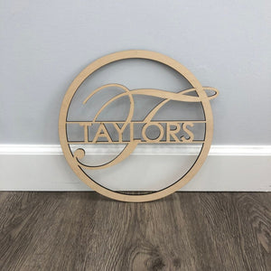 Personalized Name & Initial Circle Sign