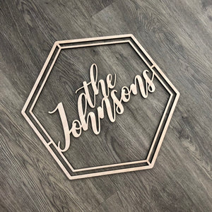 Personalized Hexagon Name Sign (Version 2)