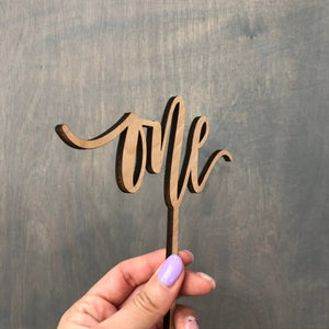 "One Cake Topper, 6""W, Version 2"
