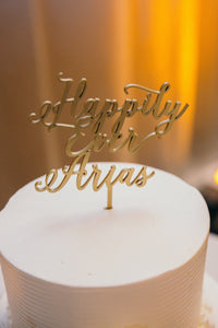 "Happily Ever Name Cake Topper, 6""W (Personalized)"