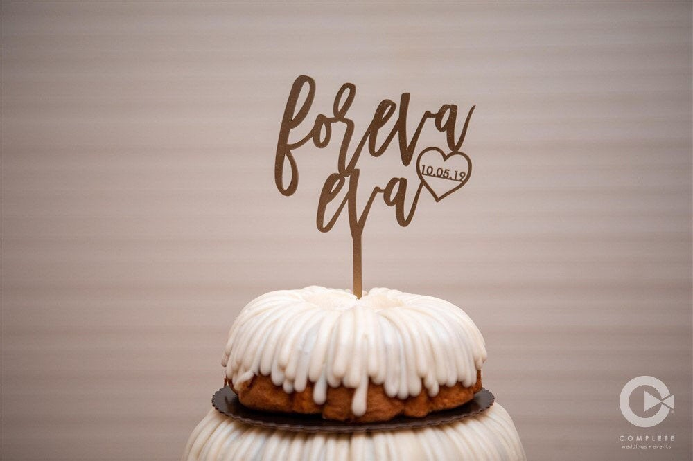 Personalized Foreva Eva with Date Cake Topper, 6