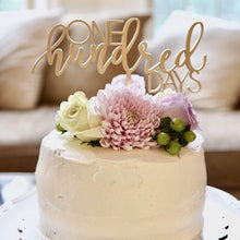 "Load image into Gallery viewer, One Hundred Days Cake Topper, 8""W"