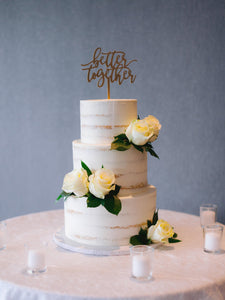 "Better Together Cake Topper, 6""W"