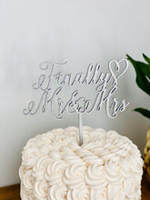 "Load image into Gallery viewer, Finally Mr & Mrs Cake Topper, 6""W"