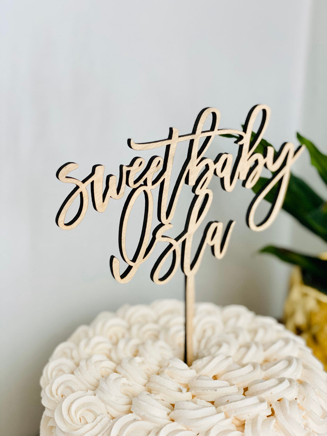 Personalized Sweet Baby Name Cake Topper, 6