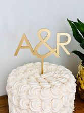 "Load image into Gallery viewer, Personalized 2 Initials Cake Topper, 5""W"