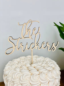 "Personalized The Last Name Cake Topper, 6""W"