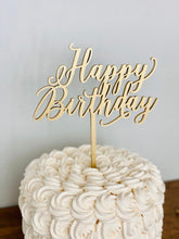 "Load image into Gallery viewer, Happy Birthday Cake Topper, 6""W"