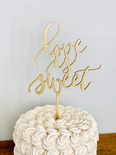 "Load image into Gallery viewer, Love is Sweet Cake Topper, 6""W"