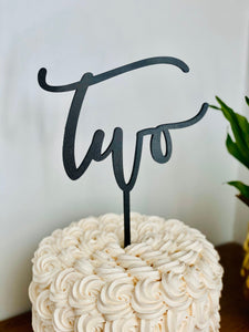 "Two Cake Topper, 6""W"