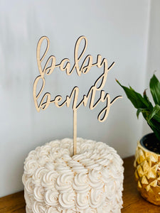 "Personalized Baby Name Cake Topper, 6""W"