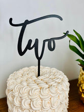"Load image into Gallery viewer, Two Cake Topper, 6""W"