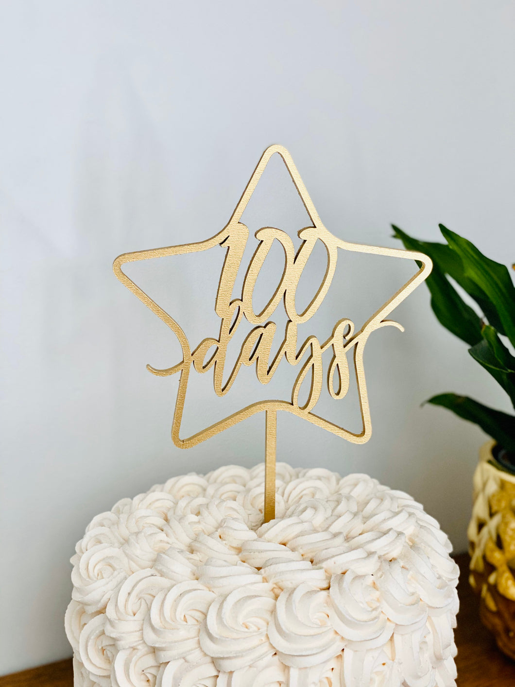 100 Days Star Cake Topper, 5.5