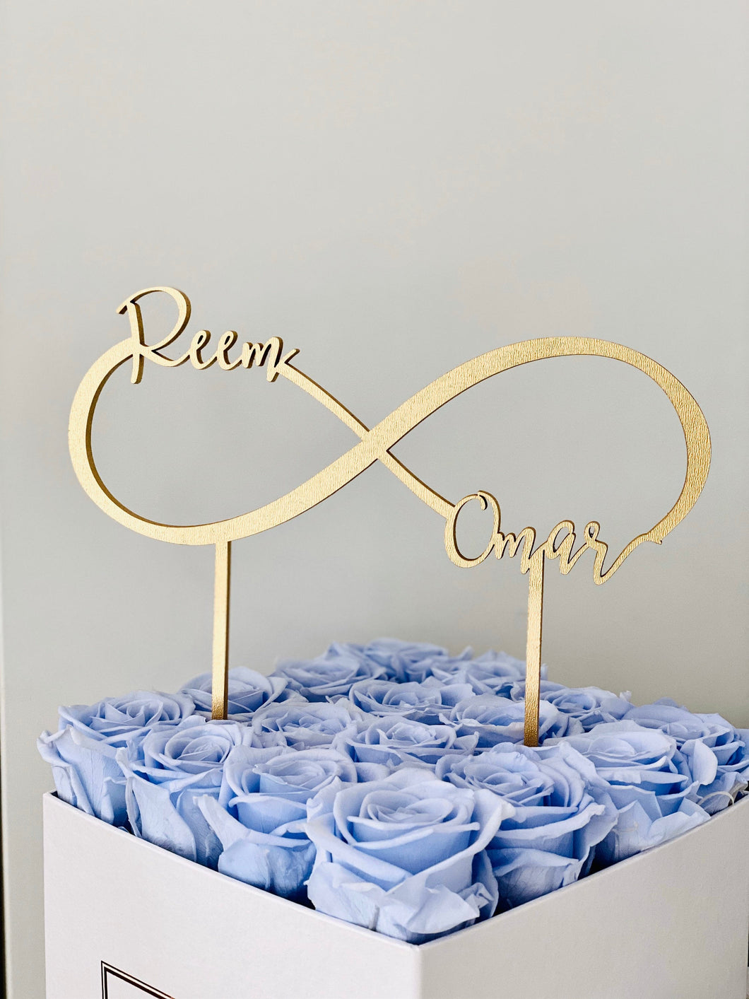 Personalized 2 Names Infinity Cake Topper, 8